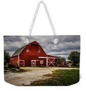 Stormy Red Barn Weekender Tote Bag