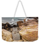 Stormy Rock Beach Weekender Tote Bag