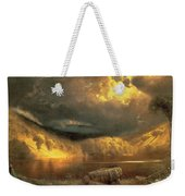 Stormy Skies Above Echo Lake White Mountains  Weekender Tote Bag