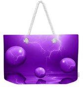 Stormy Skies - Purple Weekender Tote Bag