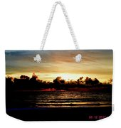 Stormy Sunrise Over The Ocean  Weekender Tote Bag