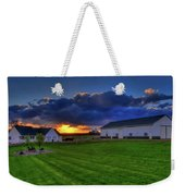 Stormy Sunset In The Country Weekender Tote Bag