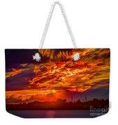 Stormy Sunset Weekender Tote Bag