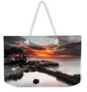 Stormy Twilight Afterglow Weekender Tote Bag