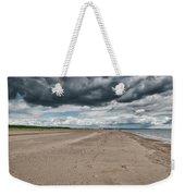 Stormy Weather Over Tentsmuir Beach In Scotland Weekender Tote Bag