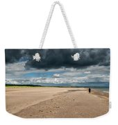 Stormy Weather Over The Beach In Scotland Weekender Tote Bag