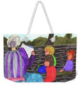 Story-time On Grand Mom's Porch Weekender Tote Bag
