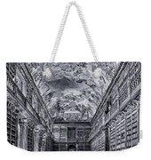 Strahov Monastery Philosophical Hall Bw Weekender Tote Bag