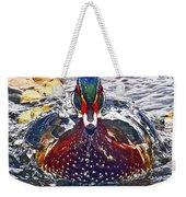 Straight Ahead Wood Duck Weekender Tote Bag