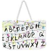 Stranger Things Alphabet Wall Christmas Lights Weekender Tote Bag