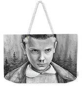 Stranger Things Fan Art Eleven Weekender Tote Bag