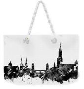 Strasbourg Skyline-black Weekender Tote Bag
