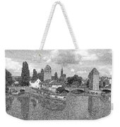 Strasbourg. View From The Barrage Vauban. Black And White 2 Weekender Tote Bag