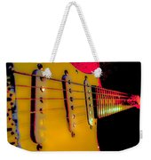Guitar Pop Art Hot Rasberry Fire Neck Series Weekender Tote Bag