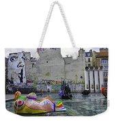 Stravinsky Fountain Near Centre Pompidou In Paris, France Weekender Tote Bag