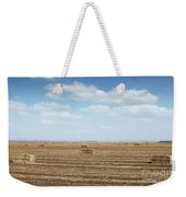 Straw Bale And Center Pivot Sprinkler System On Field Weekender Tote Bag