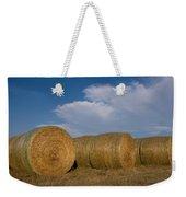 Straw Bales On A Hog Farm In Kansas Weekender Tote Bag