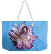 Straw Flower On Blue Weekender Tote Bag