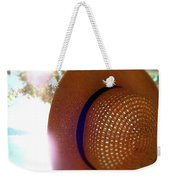 Straw Hat Hanging In Sunny Cottage Weekender Tote Bag