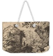 Straw Hut Seen From Behind Weekender Tote Bag