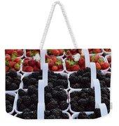 Strawberries And Blackberries Weekender Tote Bag