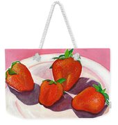 Strawberries And Cream Weekender Tote Bag