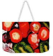 Strawberries And Kiwi Weekender Tote Bag