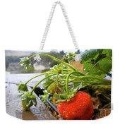 Strawberries And Rain Weekender Tote Bag