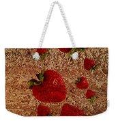 Strawberries And Stone Slab  Weekender Tote Bag