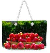 Strawberries And Summer Showers Weekender Tote Bag