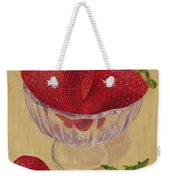 Strawberries In Crystal Dish Weekender Tote Bag