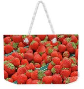 Strawberries Jersey Fresh Weekender Tote Bag