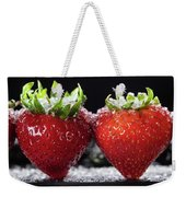 Strawberries Panorama Weekender Tote Bag
