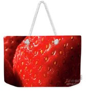 Strawberry Abstract Weekender Tote Bag