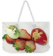 Strawberry And Easter Eggs Weekender Tote Bag