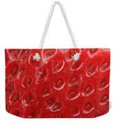 Strawberry Closeup Weekender Tote Bag