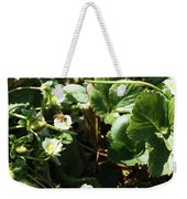 Strawberry Flower And Bee Weekender Tote Bag