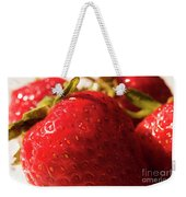 Strawberry Fun Weekender Tote Bag