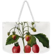 Strawberry Weekender Tote Bag