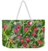 Strawberry Love Patch Weekender Tote Bag