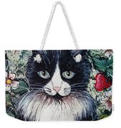Strawberry Lover Cat Weekender Tote Bag