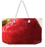 Strawberry Macro Weekender Tote Bag