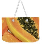Strawberry Papaya Weekender Tote Bag