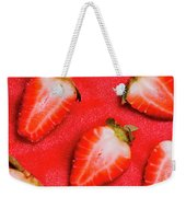 Strawberry Slice Food Still Life Weekender Tote Bag