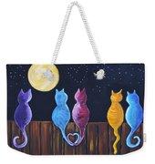 Stray Cats In Moonlight Weekender Tote Bag
