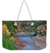 Stream And Fall Color In Central California Weekender Tote Bag