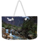 Stream And Mt. Edith Cavell At Sunset Weekender Tote Bag