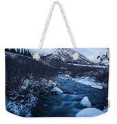Mountain Stream In Twilight Weekender Tote Bag