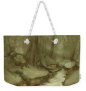 Trees By Stream Weekender Tote Bag