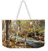 Stream In An Autumn Woods Weekender Tote Bag